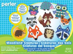 Whoooo's ready for some fun? The Perler Woodland Creatures Activity Kit gets creativity going with these great projects. Perfect for a party, play date, or to give as a gift—makes over 15 projects including owls, foxes, raccoons and other woodland animals. For ages 6 and up. The Perler Woodland Creatures fuse bead kit includes: • 4000 beads • 2 Pegboards: large hexagon and small square • Ironing paper • Pattern sheet with easy instructions