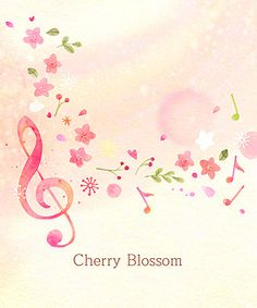 Music Illustration, Illustrations, Powerpoint Background Design, Music Decor, Music Images, Art Prints Quotes, Piano Sheet Music, Music Notes, Cherry Blossom