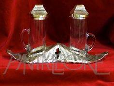 Ampolle metallo argentato e cristallo  2003 ASN