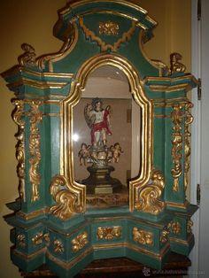 Tabernaculo del S. XVIII en madera pintada y dorada - Foto 4