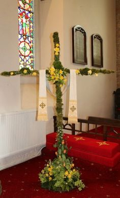 Easter Cross at Fairburn Church