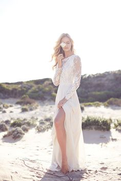 "This stunning editorial called "" In My Heart"" features the work of one of our favorite photographer companies, Lost in Love Photography . Just look at this boho bridal inspiration! We adore the romantic details on this Suzanne Harward we Slit Wedding Dress, Bohemian Wedding Dresses, Sexy Wedding Dresses, Gorgeous Wedding Dress, Beautiful Bride, Wedding Gowns, Lace Wedding, Bridesmaid Dresses, Dream Wedding"