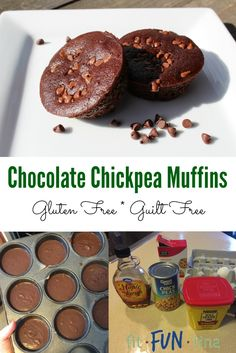 Don't let the chickpeas scare you - these chocolate chickpea muffins are DELICIOUS! Gluten-free and 21 Day Fix friendly, you can have your chocolate fix without the guilt! For more clean-eating recipes, head to www.FitFunTina.com