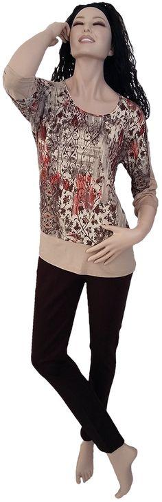 Camiseta antelina, media manga. Tallas desde la 46 hasta la 52.