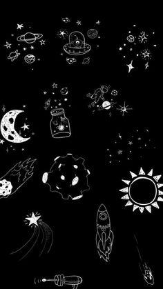 Outer Ilustração Espaço | Faz bem aos olhos | Papeis de ...