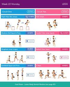 BBG Week 23 Monday Bikini Body Guide by Kayla Itsines, weeks (complete) Kayla Workout, Kayla Itsines Workout, Workout Challenge, Body Challenge, Workout Ideas, Bbg Training, Training Exercises, Marathon Training, Workout Plans