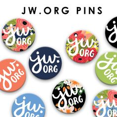Represent JW.org without the use of copyrighted material (logo, artwork). These pins feature my original illustrations and hand lettering to help promote jw.org - a useful resource to millions around the world ❤️