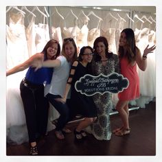 Congratulations to our newest #SolutionsBride Kasey for popping champagne with us today!  #SBstylist Eva
