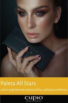 Paleta cu farduri de ochi 'All Stars Palette' Cupio All Star, Palette, Make Up, Stars, Nails, Finger Nails, Ongles, Pallets, Makeup