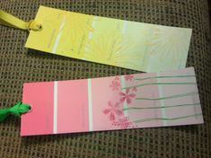 Cute tags made from paint swatches