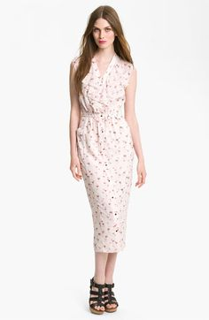 Ted Baker London 'Flamingo' Print Ruffle Shirtdress | Nordstrom