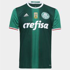 Camisa Adidas Palmeiras I 2016 s/nº - Patch Campeão Brasileiro - Verde+Branco