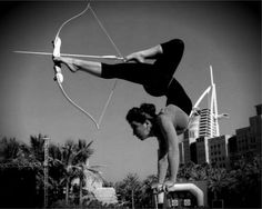 Combining contortion and archery, in my opinion, two of the sexiest artistries a person can possess, world-renown contortionist, Lilia Stepanova, is perfectly amazing. (500×399)