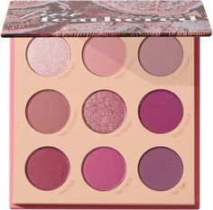 The ColourPop Fine Feathered Eyeshadow Palette is a monochromatic fuschia pressed powder palette. Featuring a range of bold fuschias, supported by softer pinks to complete your look. Colourpop Palette, New Eyeshadow Palettes, Pink Palette, Get Glam, Matte Red, Cool Tones, Coral Pink, Makeup Cosmetics, Eye Makeup
