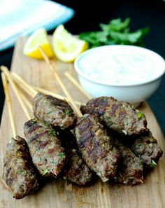 Beef Kofta Kebabs with Tzatziki Sauce | The Foodie Physician