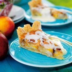 Mazarinkaka med persika