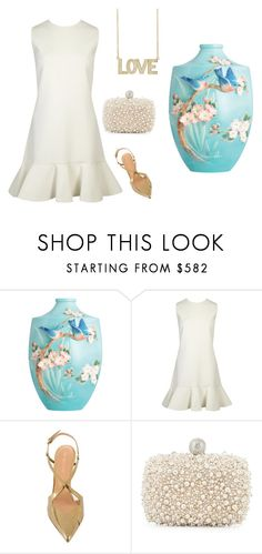 """""""Júlia"""" by marciabackermendes ❤ liked on Polyvore featuring Franz Collection, Victoria, Victoria Beckham, Sergio Rossi, Roger Vivier and Jennifer Meyer Jewelry"""