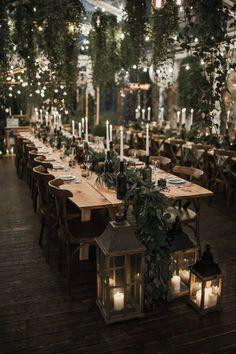 44 Unique Winter Wedding Reception Centerpieces Ideas Unique Ideas for Wedding Receptions in Winter Trendy Wedding, Perfect Wedding, Dream Wedding, Wedding Day, Long Table Wedding, Wedding Tips, Wedding Scene, Long Table Reception, Outdoor Wedding Tables