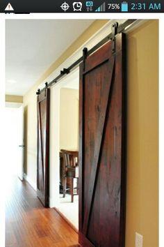 Barn doors for bathroom, laundry room, den or garage doors