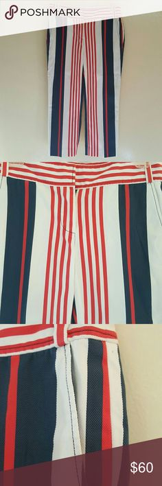 New Tory Burch crops Stripped capri, red white and blue Tory Burch Jeans Ankle & Cropped