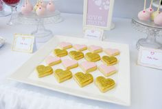 Gold heart cookies