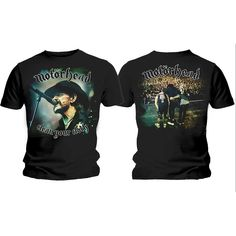 Motorhead Men's Budget Tee: Clean Your Clock Colour Wholesale Ref:MHEADTEE36MB