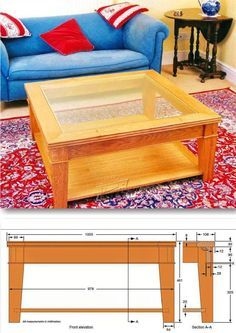 Glass-Topped Coffee Table Plans - Furniture Plans and Projects   WoodArchivist.com