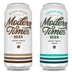 Modern Times Beer Cans, designed by Helms Workshop