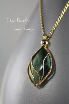 Gary Green Jasper Pendant by LisaBarthJewelry...pinned by ♥ wootandhammy.com, thoughtful jewelry.