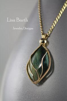 Gary Green Jasper Pendant by LisaBarthJewelry...pinned by ♥ wootandhammy.com, thoughtful jewelry.