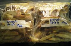 TO COOK FROZEN FRIES: Preheat oven to 425 degrees Pull out desired amount of frozen fries and place them onto lightly greased cookie sheet,...