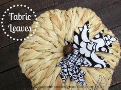 DIY Autumn : DIY Fabric leaves
