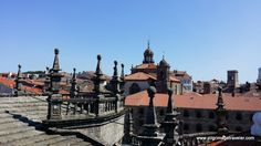 As we rounded the roof to the East, and the Plaza de la Quintana, this is the view of the rooftops that we saw. Isn't this a glorious view from the Cathedral of Santiago de Compostela?