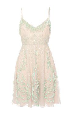 Sleeveless Rose Embroidered Dress by BLUMARINE for Preorder on Moda Operandi