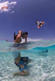 Damien Kitesurfing At Cayman Islands