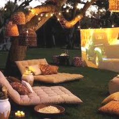 Backyard summer idea - movie?