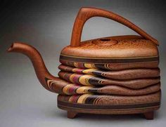 Terry Evans - Wood - Teapot Triangle with Macadamia and Wenge