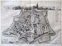 Kasteel Wageningen 1654, kaart van Geelkercken