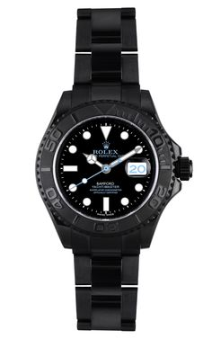 """""""There's nothing more sexy than a woman wearing a men's watch. It's the play of contrasts that I love about fashion. This watch is modern yet classic. Masculine in its shape but feminine in its execution and details."""" Nina Garcia's Customized Yachtmaster Watch from Bamford....seriously sexy."""
