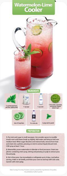 Watermelon-lime cooler recipe by Walmart World magazine #footballfood #gametime