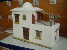 Resultado de imagen para casas para belenes Christmas Nativity Scene, Christmas Villages, Christmas Time, Xmas, Clay Houses, Miniature Houses, Ramadan Decorations, Christmas Decorations, Biscuit