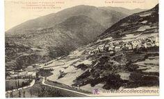 Arròs.  Núm. 375. Valle de Aran. Pueblo de Arrós. Carretera y rio Garona.  Los Pirineos.  1932