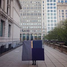 """Quilt art by Heidi Parkes titled, """"Night and Day."""" This quilt is about transition, inspired by the quilts of Gee's Bend, and photographed by The Art Institute of Chicago. #quilt"""