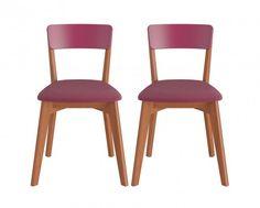 Conjunto Cadeiras Dinda - Estofado Vinho - 2 peças #oppadesign #saladeestar