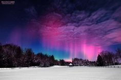 The aurora borealis in the skies above Maine.