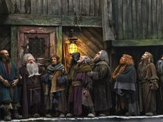 The Dwarves in Laketown. (The Hobbit)