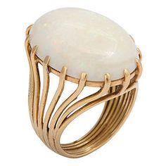Vintage Kaleidoscope Opal Ring