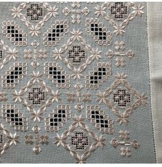 Hardanger Embroidery, Cross Stitch Embroidery, Drawn Thread, Bargello, Embroidery Techniques, Hobbies And Crafts, Needle Felting, Needlepoint, Sewing Crafts