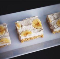 Paleo Friendly Banana Cream Pie Bars