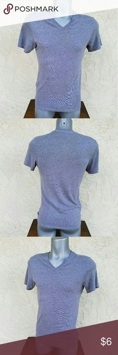 Heathet Gray V-neck T-Shirt Heather Gray Short Sleeve V-neck T-Shirt. EUC. Shoulder to Sh 15in, Armpit to AP 17in, Length 25in. Made of 50% Cotton, 50% Polyester Vurt Shirts Tees - Short Sleeve